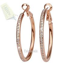 stylish earrings fabjewels4less stylish gold plated hoop earrings with