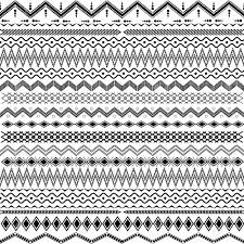 texture with geometrical ornaments black white royalty free