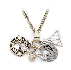 harry potter necklace images Harry potter charm necklace thinkgeek jpg