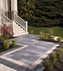 Landscape Patio Ideas Outdoor U0026 Garden Design Decorative Natty Unilock Pavers For