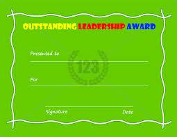 outstanding leadership award template free download certificate
