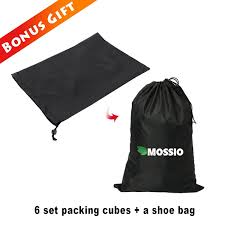 amazon com packing cubes mossio 7 sets waterproof lightweight