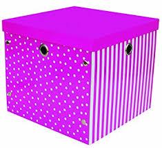 aufbewahrungsbox kinderzimmer aufbewahrungsbox mit deckel pink stabile pappe metallösen für