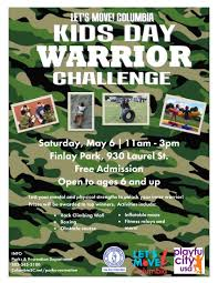 let u0027s move columbia kids day warrior challenge tickets sat may