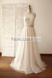 tulle wedding dresses boho lace tulle wedding dress