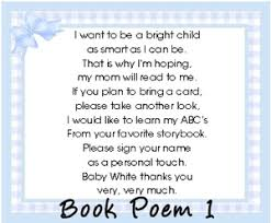 book instead of card baby shower poem i want to ask for books in lieu of cards schmeltzer