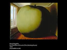 la chambre d oute magritte the work depicts a standing in front of a mirror but whereas