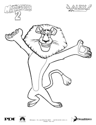madagascar 2 alex coloring pages hellokids com