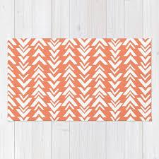 coral area rug 2x3 rug modern arrow print dorm room rug 3x5