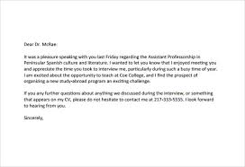 ideas of thank you letter interview recruiter with download