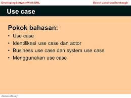 membuat use case skenario use case pokok bahasan use case identifikasi use case dan actor