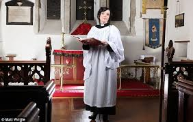 the vicar wears prada how the rev who posed for a fashion shoot