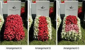 cemetery flower arrangements baron de hirsch