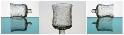 interiors peg votive candle holder crackle glass 4 25 inch x 2 75