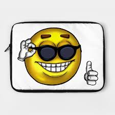 Thumbs Up Meme - sunglasses thumbs up meme emoji laptop case teepublic
