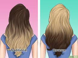 gambar tutorial ombre rambut cara membuat rambut ombre wikihow