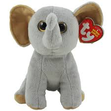 ty beanie baby sahara elephant tan ears u0026 feet 6