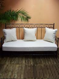 canapé bilbao canapé en fer forgé bilbao blanc meubles salon marocain