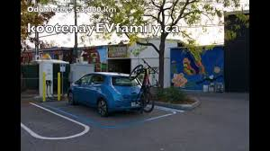 nissan leaf dc fast charge fast charging a nissan leaf in penticton bc youtube