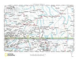 Yellowstone Map Usa by Yellowstone River Bighorn River Drainage Divide Area Landform
