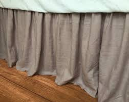 Shabby Chic Bed Skirts by Natural Linen Bedskirt Bed Ruffles Linen Dust Ruffles Bed