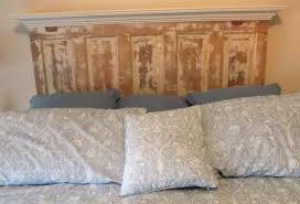 Distressed Wood Headboard by Diy Bed Wood Headboard Home Design Ideas