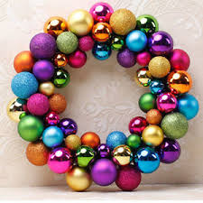 55 balls wreath door wall ornament garland home wedding