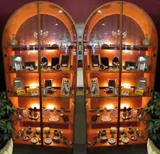 Lighted Display Cabinet Encore Furniture Gallery Danish Modern Arched Curio Cabinet