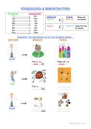 36 free esl demonstrative pronouns worksheets