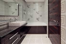 Wallpaper Bathroom Ideas Bathroom Stylish Modern Bathroom Idea With Asian Style Wallpaper
