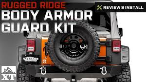 jeep body armor bumper jeep wrangler rugged ridge body armor guard kit 5 pieces black