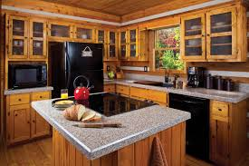 Kitchen Island With Granite Countertop Pairing Rustic Kitchen Cabinets With Granite Countertops For