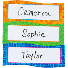 Desk Name Tags by Magnetic Dry Erase Name Plates