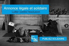 annonce l ale changement si e social annonce légale et solidaire l itinérant
