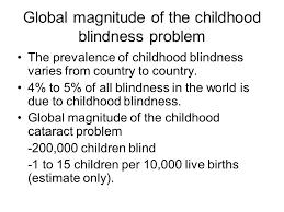 Blindness In The World Hospital Based Pediatric Eye Services Furahini Godfrey Bsc Ed