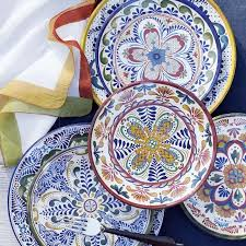 veracruz melamine dinner plates williams sonoma