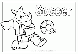 kids soccer ball coloring colorine net 22274 coloring