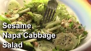 napa salad sesame napa chinese cabbage salad recipe tips for growing youtube