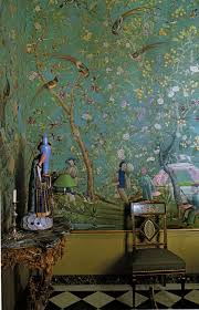 Korean Wallpaper Home Decor Chinoiserie Pierre Berge Ysl Interiors Interior Random