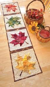 patchwork maple leaf table runner quilt kit keepsake quilting