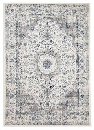 Modern White Rugs by Nuuk Ivory U0026 Blue Distressed Transitional Rug