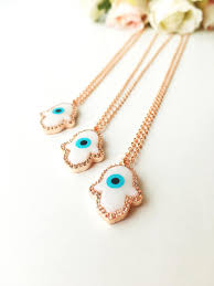 evil eye hand bracelet images Hamsa necklace evil eye bracelet rose gold hamsa hand necklace jpg
