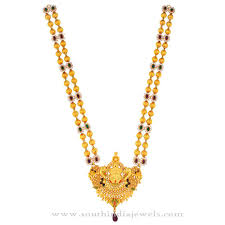 long gold beads necklace images Gold beaded long necklace from kamadenu jewellery south india jewels jpg