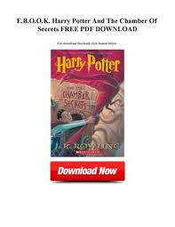 harry potter et la chambre des secrets pdf d o w n l o a d pdf e b o o k harry potter and the chamber of