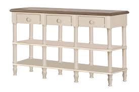 Sofa Table With Drawers Hillsdale Seneca Sofa Table With 3 Drawers Driftwood Sea White