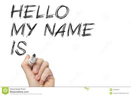 Introduction Hello My Name Is Stock Photo Image Of Color Chalk Ideas 33589540