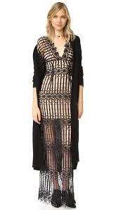 Free People Night Whispers Lace Maxi Dress Black Women Clothing