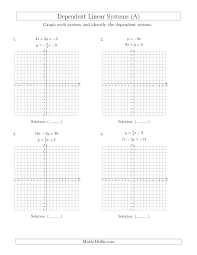 graphing linear equations using a table worksheet kuta