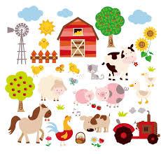 Baby Decals For Walls Amazon Com Farm Friends Baby Nursery Peel U0026 Stick Wall Art