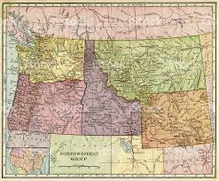 Map Of Idaho And Montana by Northwestern Usa Map 1896 Stock Photo 494436157 Istock